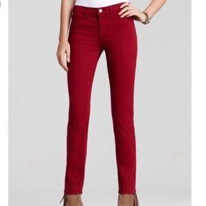 J Brand skinny leg black cherry jeans